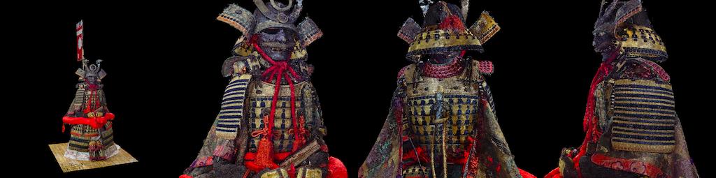 弓矢町の甲冑3Dモデル